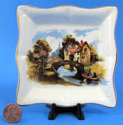 Jolly Boatman Pub Oxford Dish Teabag Caddy Sandland 1950s Plate