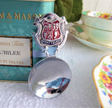 Welsh Tea Caddy Spoon Tea Scoop Enamel Shield Finial For Port Talbot 1930s