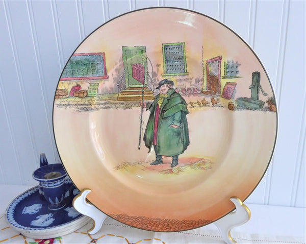 Royal Doulton Tony Weller 1950s Charger Plate Dickensware Pickwick Papers Noke