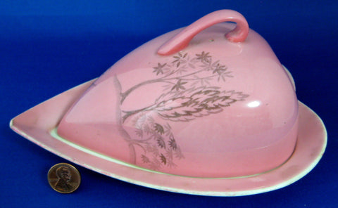 Royal Winton Grimwades Pink Heart Shape Cheese Wedge Georgia 1950s
