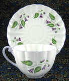 Cup And Saucer Shelley Campanula Purple Trim Ludlow Shape 1938-1946