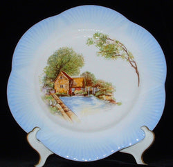 Shelley England Dinner Plate Blue Old Mill Dainty 11 Inch Charger Dinner Party