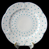 Shelley Dainty Polka Dot Turquoise Salad Plate 1950s Luncheon