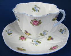 Cup and Saucer Shelley Dainty Rose Pansy Forget Me Nots 1950s Teacup