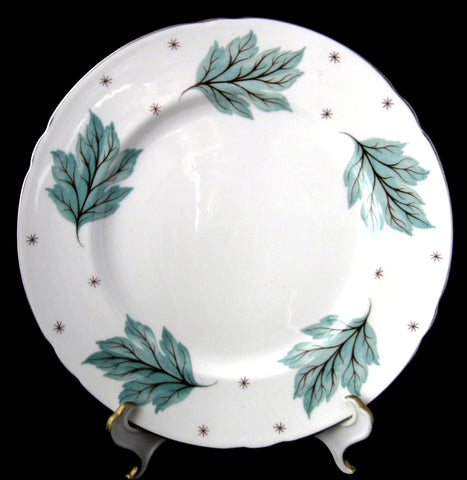 Shelley Drifting Leaves Gainsborough Shape Luncheon Plate 8 Inches
