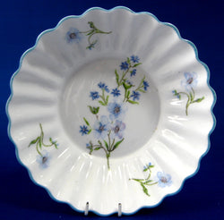 Shelley Blue Rock Bon Bon Dish Ludlow Shape Blue Trim Bowl 1950s