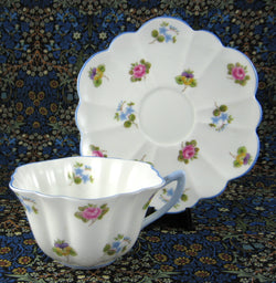 Shelley Cup And Saucer Rose Pansy Forget Me Nots Stratford 1950s