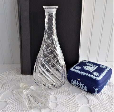 Irish Crystal Decanter With Stopper Crystal Mid Century Modern 1950s Lead Crystal