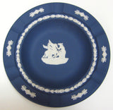 Wedgwood Dark Blue Jasperware Plate Bowl 7 Inches Pegasus 1950s