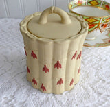 Wedgwood Jasper Jar With Lid Primrose And Terracotta 1950s Bamboo Caneware