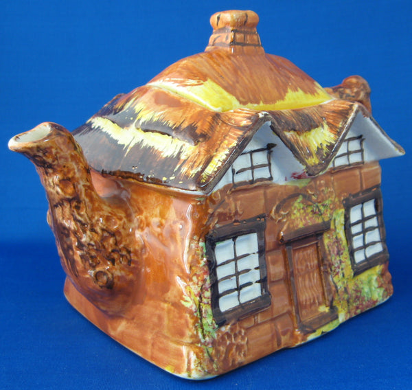 Cottageware Teapot Price Brothers Hand Painted Large 1940s Thatched Cottage
