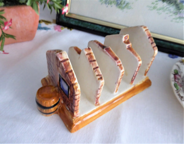 Cottageware Toast Rack Cottage Ware English Vintage 1960s 4 Slice Kitsch