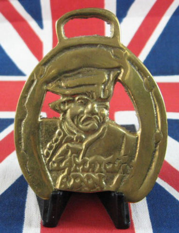 Jamaica Inn Cornwall Horse Brass 1950s Pirate Vintage Souvenir Pub Harness Ornament