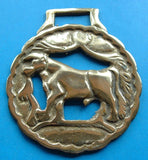Horse Brass Bull Steer England Pub Brasses Souvenir 1950s Harness Ornament