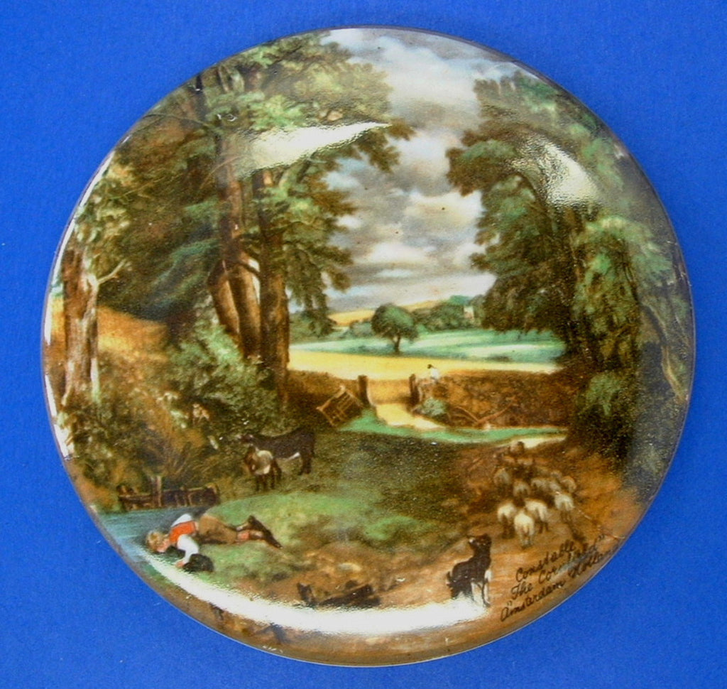 English Pot Lid The Cornfield Constable James Kent 1950s Historic Reproduction