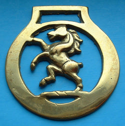 Horse Brass Horse With No Tail England Pub Brass Souvenir 1920s Tourist Brass Pub Brass