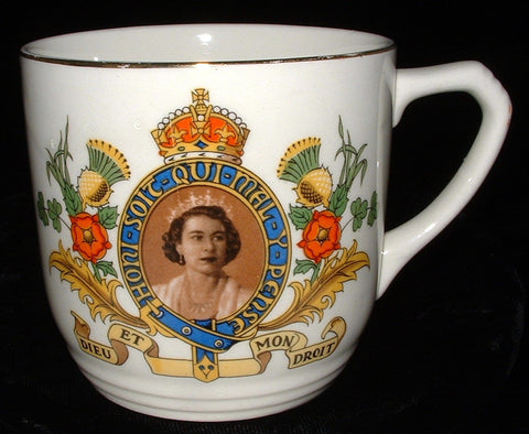Coronation Mug Queen Elizabeth II Empire Fancy 1953 Glamorous Photo