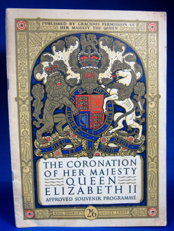 Coronation Program Queen Elizabeth II England 1953 Programme Official Program