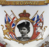 Cup and Saucer Elizabeth II Coronation 1953 Crown Handle Trooping Colour Outfit