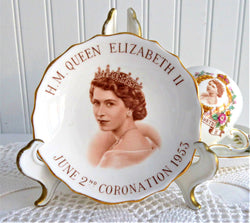 Queen Elizabeth II Coronation 1953 Bowl Dish Tuscan Gorgeous Photo