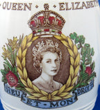 Queen Elizabeth II Coronation Mug 1953 Copeland Spode Brown Transferware Hand Colored