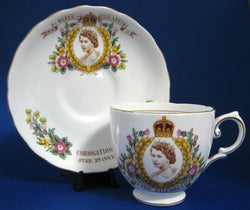 Queen Elizabeth II Coronation Cup And Saucer Tuscan 1953