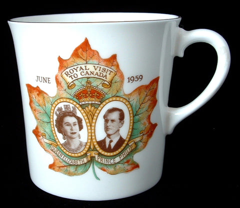 Shelley Mug Queen Elizabeth II Visit To Canada 1959 Canada Royal Visit Canadian Souvenir