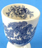 Eggcup Blue Transferware Toile England Egg Cup Double Ironstone