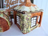 Cottageware Cream and Sugar English Thatched Vintage 1960s Kitsch