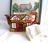 Teapot Cottageware English Thatched Vintage Price Kensington 1950s Kitsch