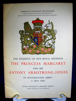 Princess Margaret Royal Wedding Programme Program 1960 Lord Snowdon