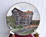 Royal Doulton Plate Little Moreton Hall Tudor Mansion 1960s Charger Large Plate