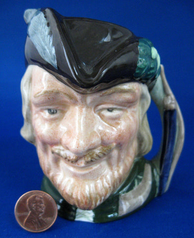 Royal Doulton Robin Hood Toby Character Jug Small 1960s Famous Hero Pitcher