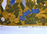 Tea Towel Irish Linen St George Dragon Dish Towel Unused 1960s Large Ulster