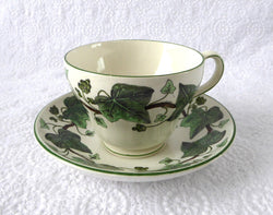 Cup And Saucer Napoleon Ivy Wedgwood Historic Reissue England 1960s