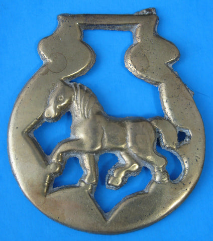 Horse Brass Walking Horse English Pub Brass 1960s Tourist Brass Pub Brass