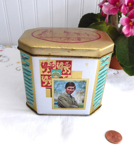 Tea Tin 1969 Investititure Of Prince Charles As Prince Of Wales Caenarvon Castle
