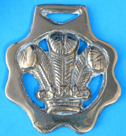 Horse Brass Charles Prince Of Wales Plumes Investiture 1969 Harness Ornament