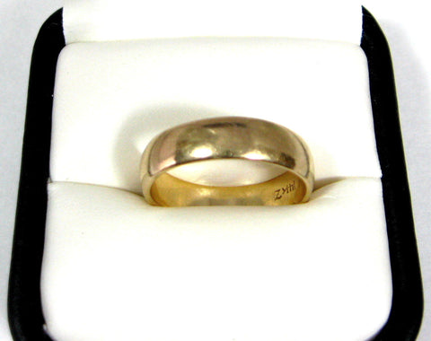 Ring Wedding Band 14k Gold 5.9 Grams Of Solid Gold 5 MM 14kt Wedding Ring Thumb Ring