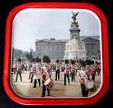 Tin Souvenir Tray Metal Buckingham Palace Bands Queen's Guards 1970s