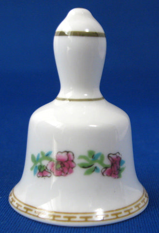 Coalport Indian Tree Miniature Bell English Bone China 1970s Mini Collectible Bell