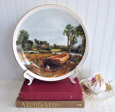 Charger Plate Constable Boat Buiding Near Flatford Mill 1970s Fenton England