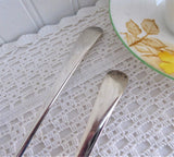 Silver Salad Servers Vintage English Serving Spoon Fork 1970s EPNS Fiddle Pattern