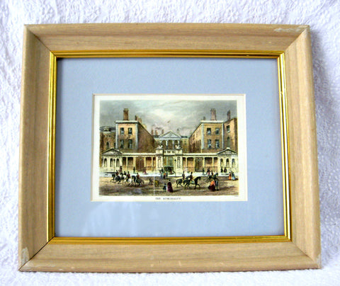 Framed Admiralty Victorian London Print Framed Matted Glass Litho