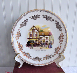 Plate Old Coach House York 1970s England Bone China 9.5 Inch Gainsborough