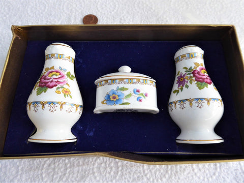 Vintage Condiment Cruet Set 1970s Royal Grafton Malvern Boxed