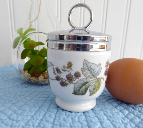 Egg Coddler Royal Worcester Lavinia Blackerry Vines Single Standard 1970s