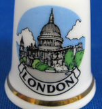 London Thimble English Bone China Souvenir St Paul's Cathedral