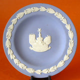 Plate Wedgwood England Blue Jasperware Picadilly Circus 1970s Small Plate