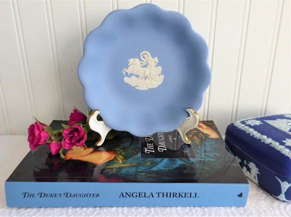 Bowl Wedgwood Blue Jasperware Candy Bowl 1970s Aurora And The Dawn Chariot Jasper